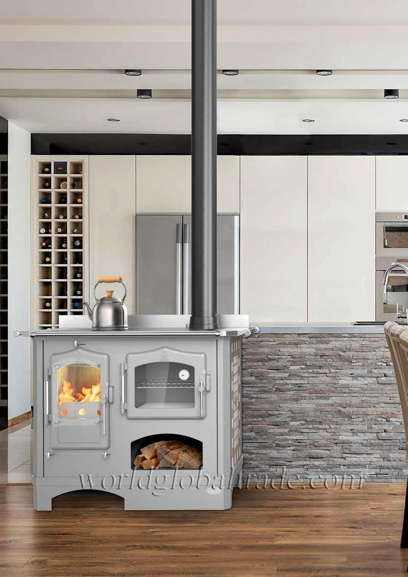 Stufa Cucina a legna Mod. NONNA AMELIA 10 Kw | eBay
