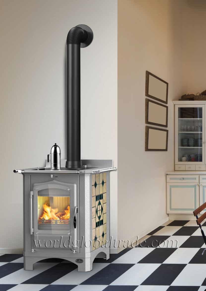 Stufa cucina a legna arce mod regina e th idro 10 16 kw - Cucina a legna usata ...