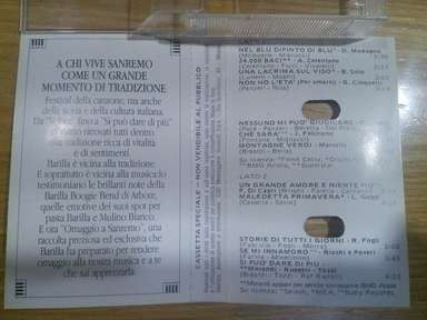 Mulino Bianco Barilla Anni 80 Musicassetta Omaggio A Sanremo