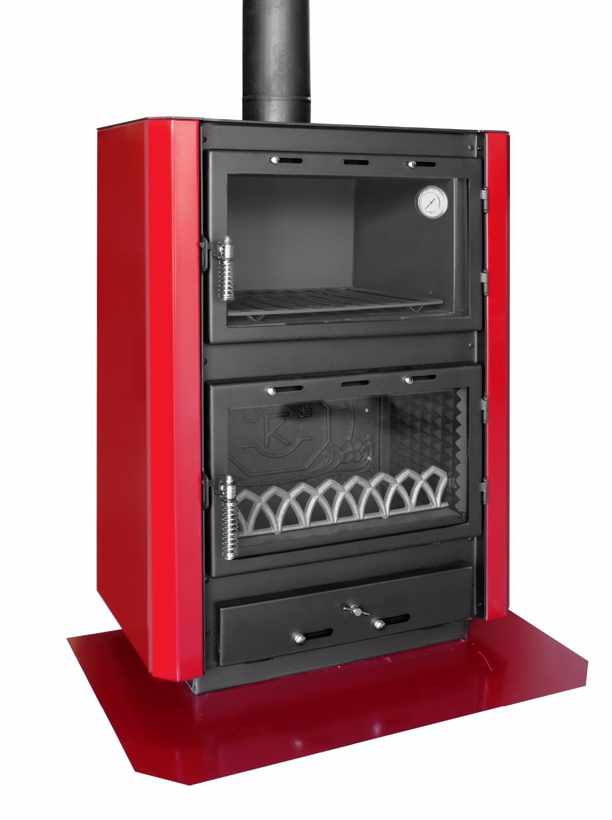 Stufa camino con forno a legna gerkand mod augusta in acciaio e ghisa 10 15 kw ebay - Detrazione fiscale stufa a pellet ...
