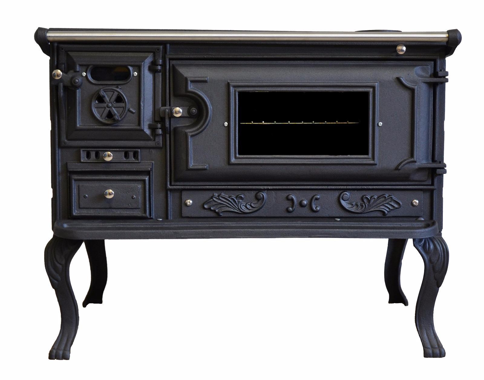 Cucina stufa con ampio forno a legna viometalko messina in - Cucina a legna con forno ...