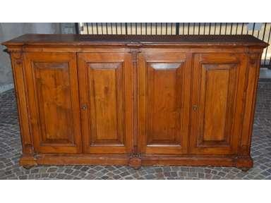 La Credenza Piemonte : Antica credenza 4 ante piemontese legno abete epoca 800 madia