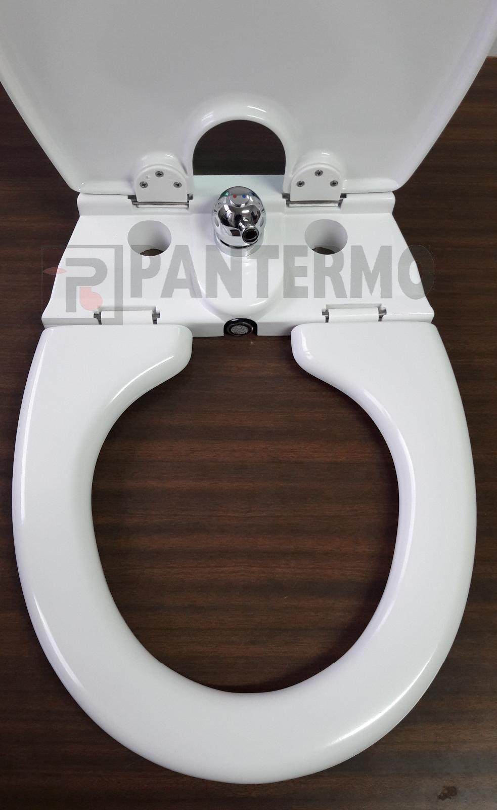 Sedile Combinato Wc Bidet Copriwater Universale Con Rubinetto Miscelatore Bidet Ebay